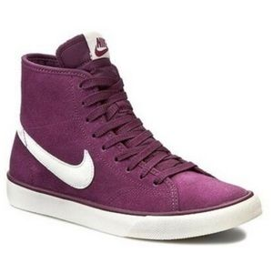 NIKE Primo Court Purple Suede Mid Top Sneakers